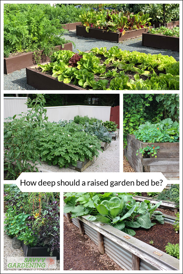 How deep should a raised garden bed be?