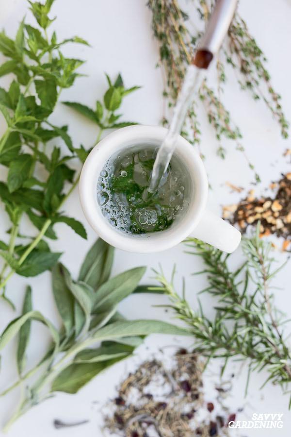 Homegrown herbal tea