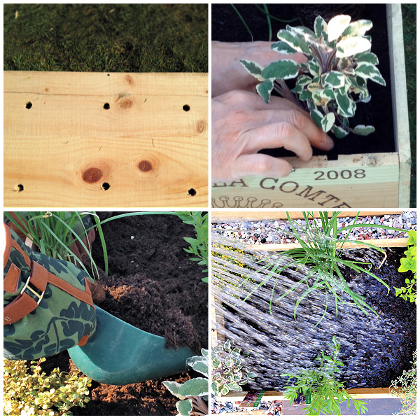 how to plant a crate with herbs