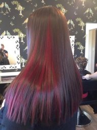 Hair colour and straightening