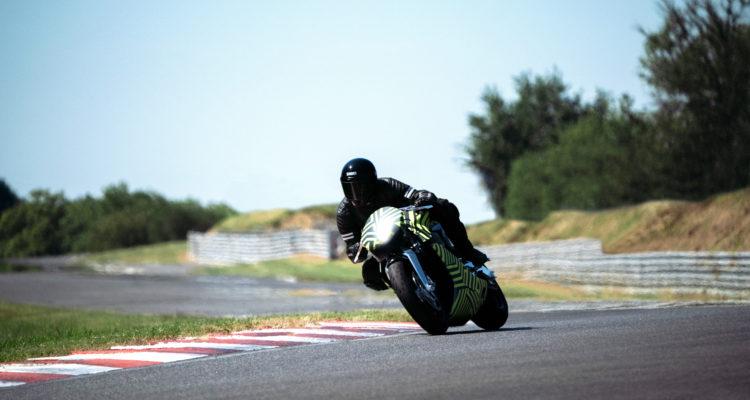 Aston Martin AMB 001 Carbon Fiber Motorcycle Undergoing Prototype Testing