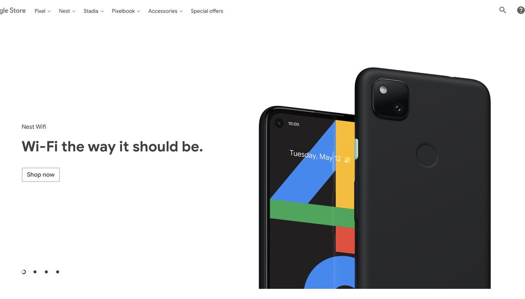 Google just put a photo of the Pixel 4A on its store