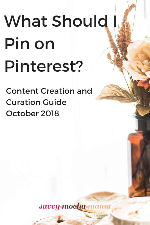 Ideas for October 2018 Pinterest content creation and curation