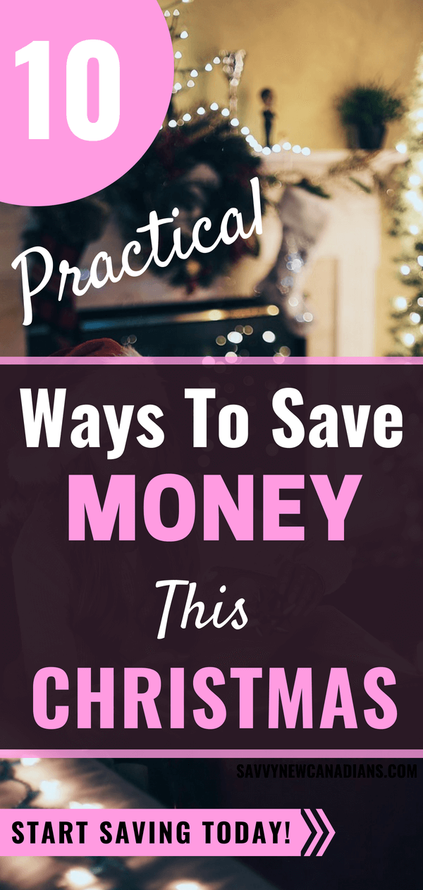 10 Practical Ways To Save Money This Christmas. Avoid getting into debt this Christmas with these genius saving tips. Start saving now! #Christmasgifts #Holidays #SaveMoney #Shopping #Budget