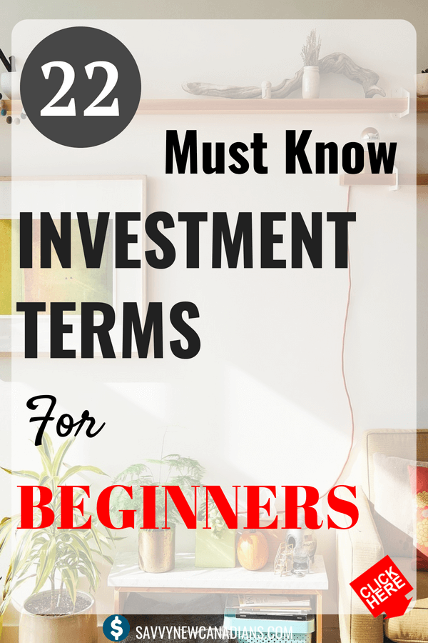 22 Investment Terms You Should Know. Do you want to succeed in the financial and stock markets as a beginner? You should know these investment terms! Start investing like a pro today. #investing #stockmarketforbeginners #knowledge #makemoney #personalfinance