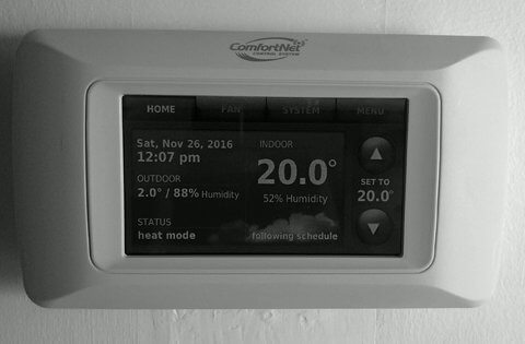 Lower the Thermostat to 20°C