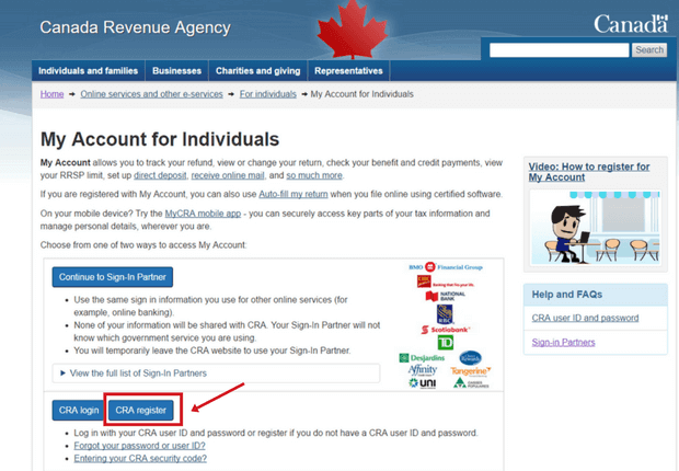 How To Register And Open A Cra My Account In 2020 Savvy New Canadians