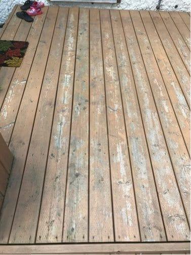 flaking wood deck