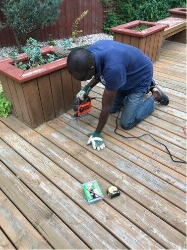 deck repair - using jigsaw