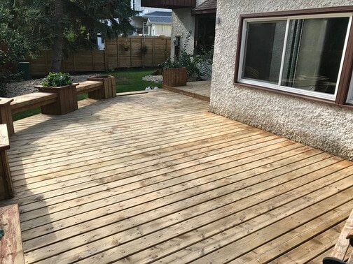 dry deck before sanding