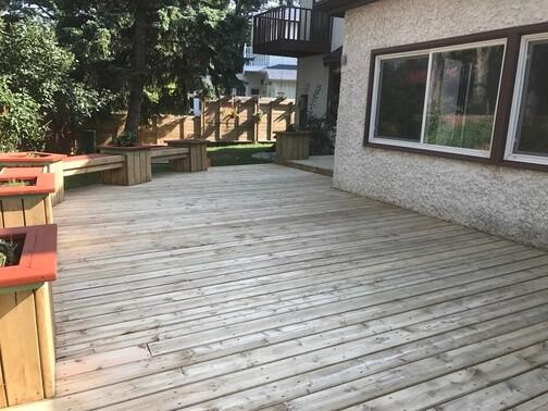 old deck following sanding