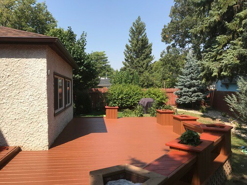 stained deck - cappuccino colour