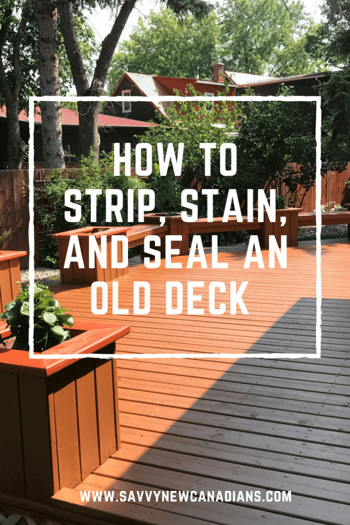 How to strip and stain an old deck