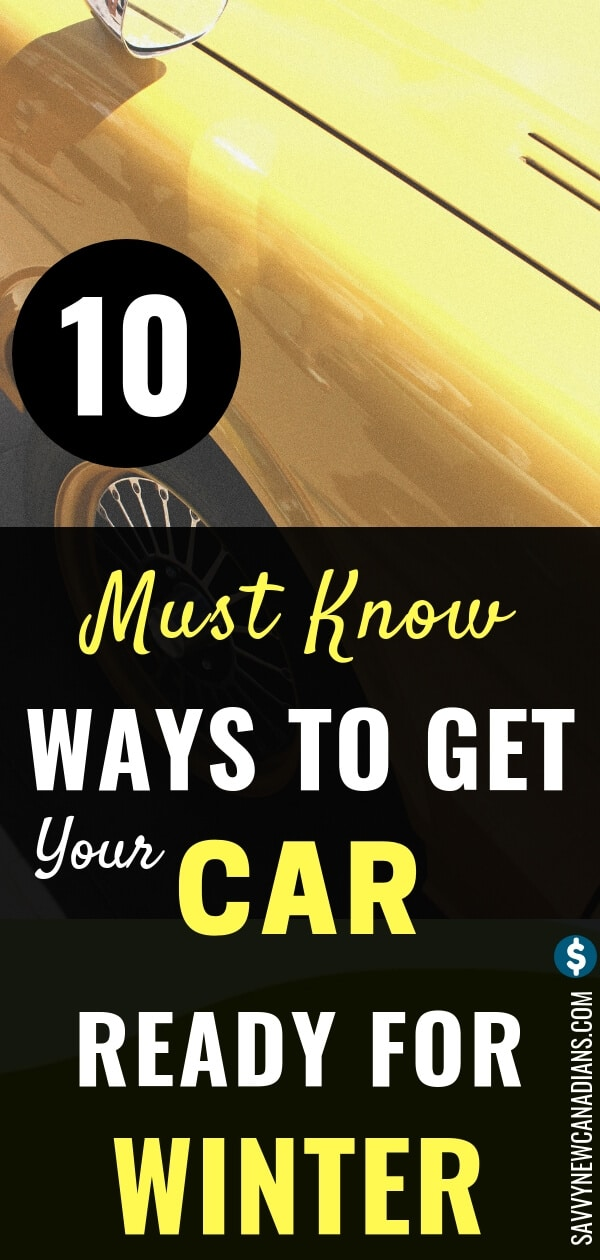 Winter is fast coming! Here are the 10 easy ways to get your car ready and save money! #winter #car #maintenance #DIY #savemoney #wintertips #carmaintenancetips #winterchecklist