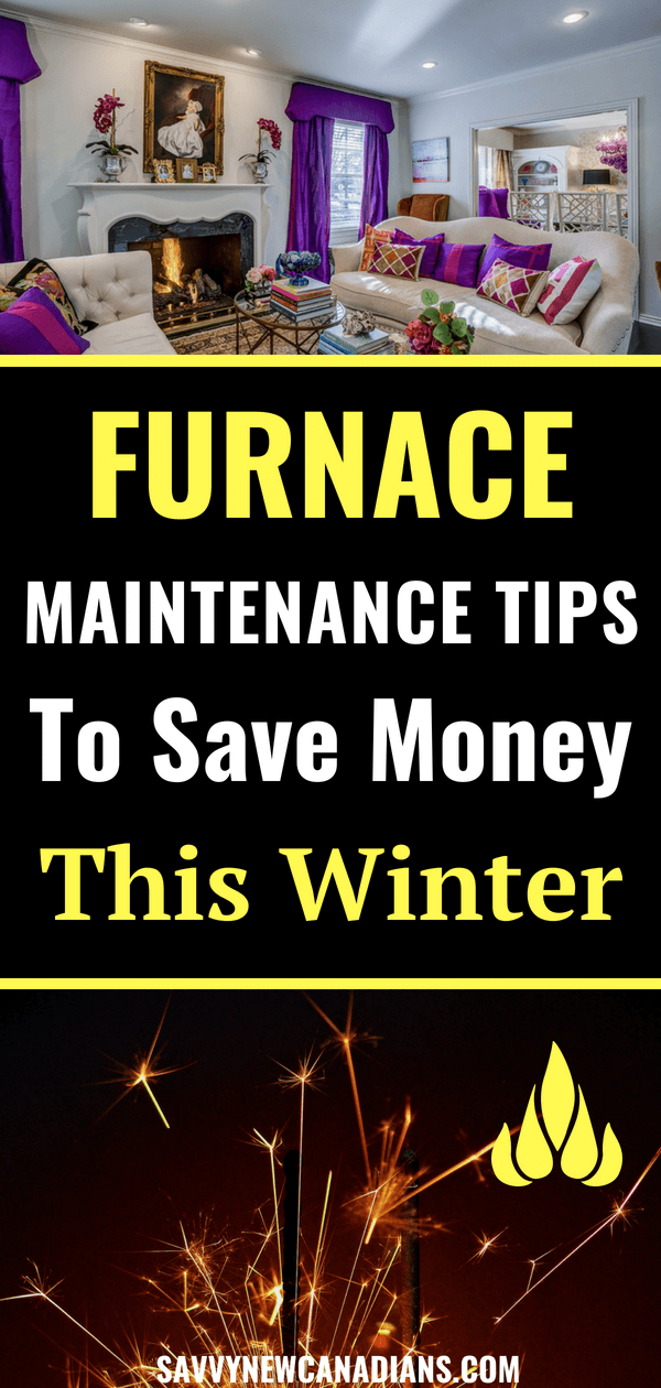 8 Furnace Maintenance DIY Tasks To Save Money This Winter. These furnace maintenance tips will save you lots of money and keep your furnace working efficiently this winter. #furnacemaintenance #furnaceDIY #DIY #fall #Winter #heatingandcooling #house #savemoney