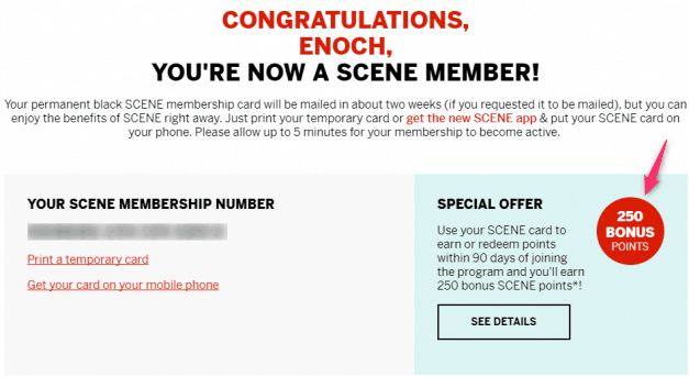 How to use the SCENE card and get free movies