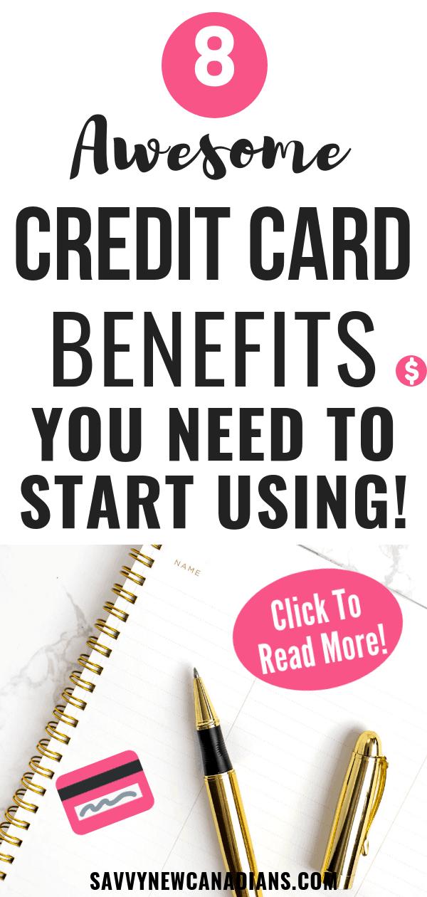 Start taking advantage of these free credit card benefits. #creditcards #travel #savemoney #credit #financialplanning #personalfinance