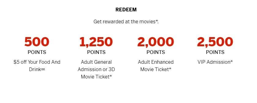 SCENE rewards redemption