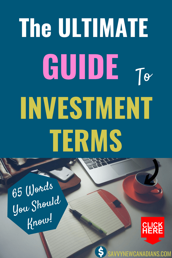 The Ultimate Guide To Investment Terms You Should Know. As a beginner investor, it is important that you understand these basic investing words if you plan to succeed in the financial markets. This article lays out the most important 70 basic terms you should understand to build your investing portfolio and net worth. #beginnertips #moneytips #investing #personalfinance #terms