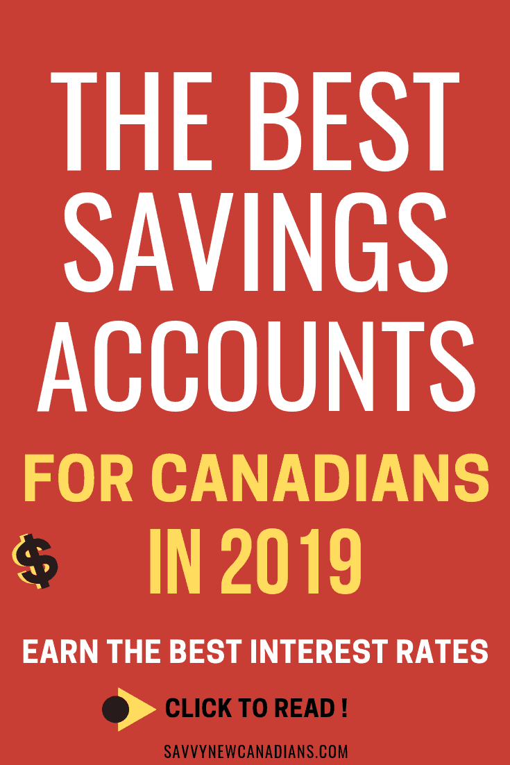Best Savings Accounts For Canadians in 2019