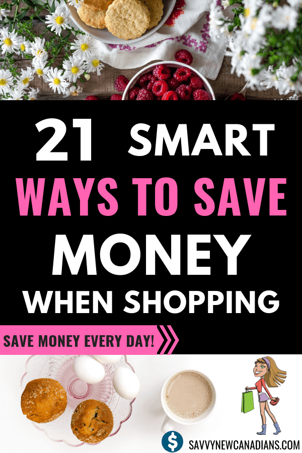 21 Ways To Save Money When Shopping. Do you want to lower your monthly household expenses and start saving money on groceries and all your other shopping? Check out these great tips to start saving money every month even on the same income. #groceries #mealplanning #savemoney #tips #budget #family #nocoupons