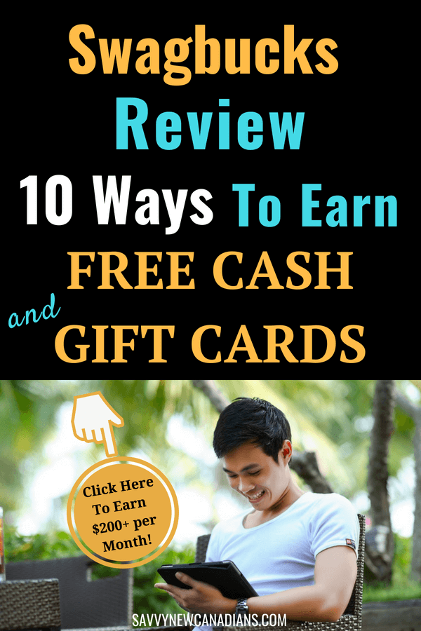 How To Earn Easy Cash and Free Gift Cards Online With Swagbucks. Check out the 10 different ways to earn real cash with Swagbucks when you do simple tasks including completing surveys, watching videos, shopping and browsing the internet. Find ways to earn easy money from home at your leisure. #makemoneyonline #workfromhome #makemoney #freemoney #swagbucks #sidegig #increaseincome