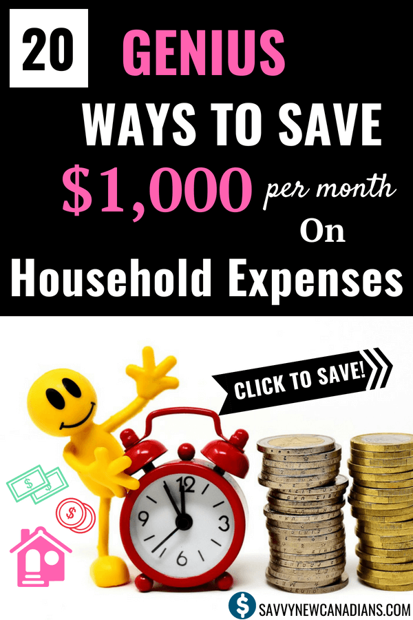 20 Genius Ways To Save Money on Household Expenses. Do you want to start saving more money and cut your monthly household bills? Check out these practical and doable saving tips to see how you can save extra thousands of dollars every year. #family #expenses #savemoney #home #tips #personalfinance #bills