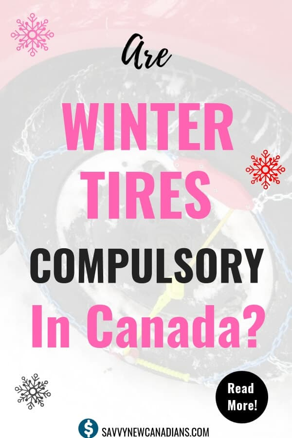 Are Winter Tires Required in Canada? Check out what the different Provinces require for winter driving. #winter #wintertires #driving #savemoney #DIY #car
