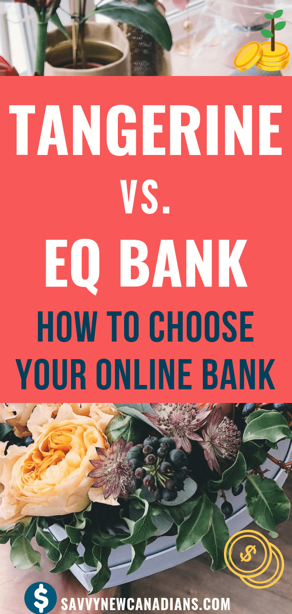 Tangerine and EQ Bank are two of the most popular online banks in Canada. They both offer excellent savings rates. In addition, Tangerine offers a no-fee checking account and an excellent referral program. EQ Bank offers a great non-promotional savings interest rate. Want to save on banking fees and open an online bank account? Check how these two online banks compare and which one is best for you! #Tangerine #EQBank #savemoney #interestrate #savings #moneytips #earnmoney #investing #money #personalfinance