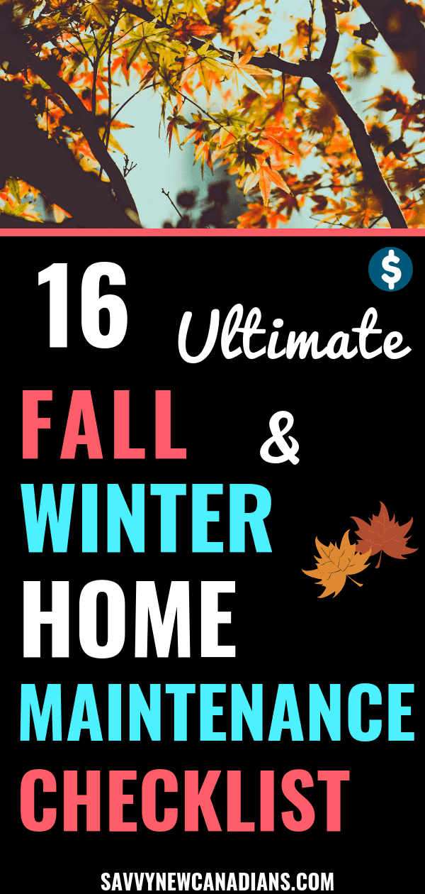 Fall is on the horizon. Here are 16 things you need to do to ensure your home and yard are ready for the coming winter season. #fallcleaning #fallorganization #home #diy #homechecklist #homeowner