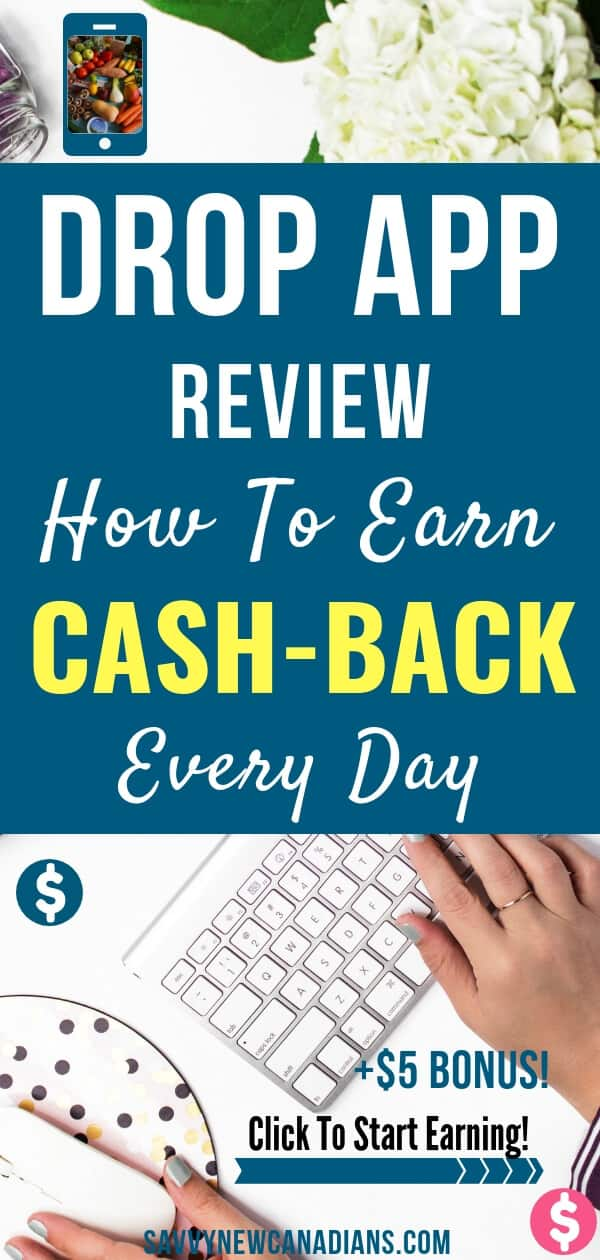 Do you want to earn cash back whenever you shop? The Drop App rewards you with cash-back automatically whenever you shop at your favourite retail store or restaurant. Start earning cash back today plus a $5 bonus when you sign up using the promo link in this article. Start earning today! #cashback #rebates #rewards #cashbackapps #freeapps #savemoney #frugalliving