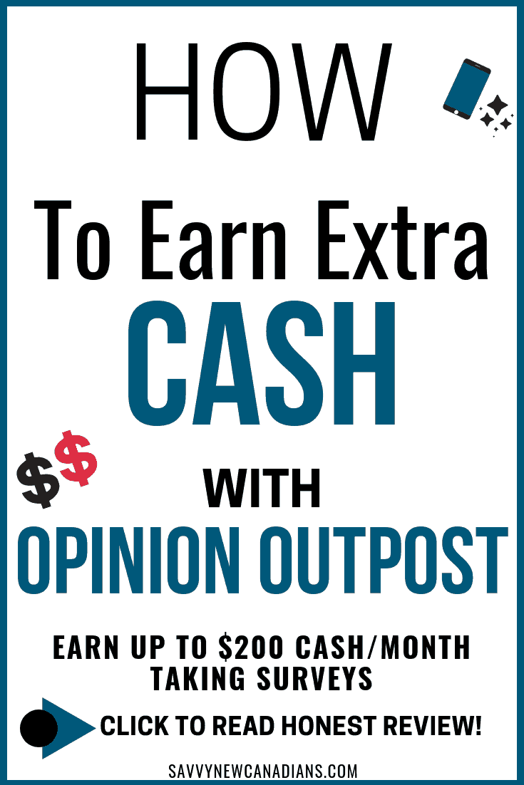 Do you want to make extra cash from home? Opinion Outpost is a paid survey site that rewards you with free gift cards and real cash when you complete surveys online. Start earning today! #paidsurveys #opinionoutpost #workfromhomejobs #freegiftcards #extracash #passiveincome