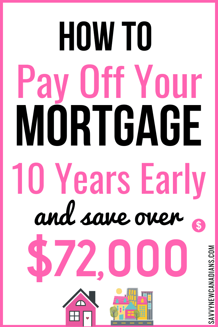 See how you can pay off your mortgage 10 years early and save more than $72,000 in the process. You can become mortgage free early and reach financial freedom! #payoffdebt #mortgagefreedom #debtfree #home #savingmoney #homeownertips