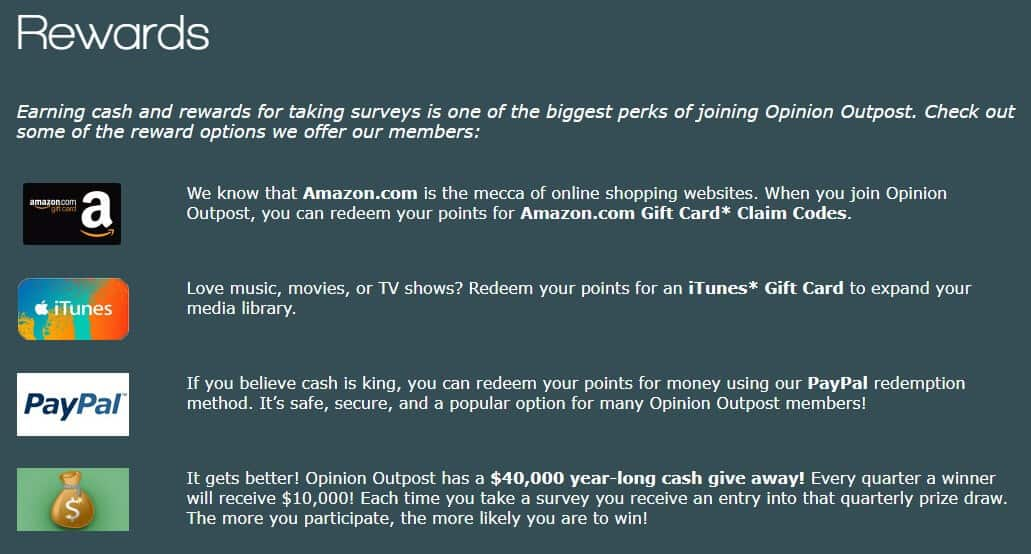 How to redeem your Opinion Outpost rewards