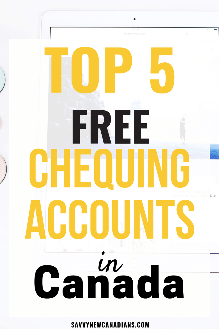 These are the best no fee bank accounts in Canada. Check out these list for the best chequing/checking accounts to start saving on your banking. #bank #chequingaccount #savemoney #personalfinance #nofees #banking