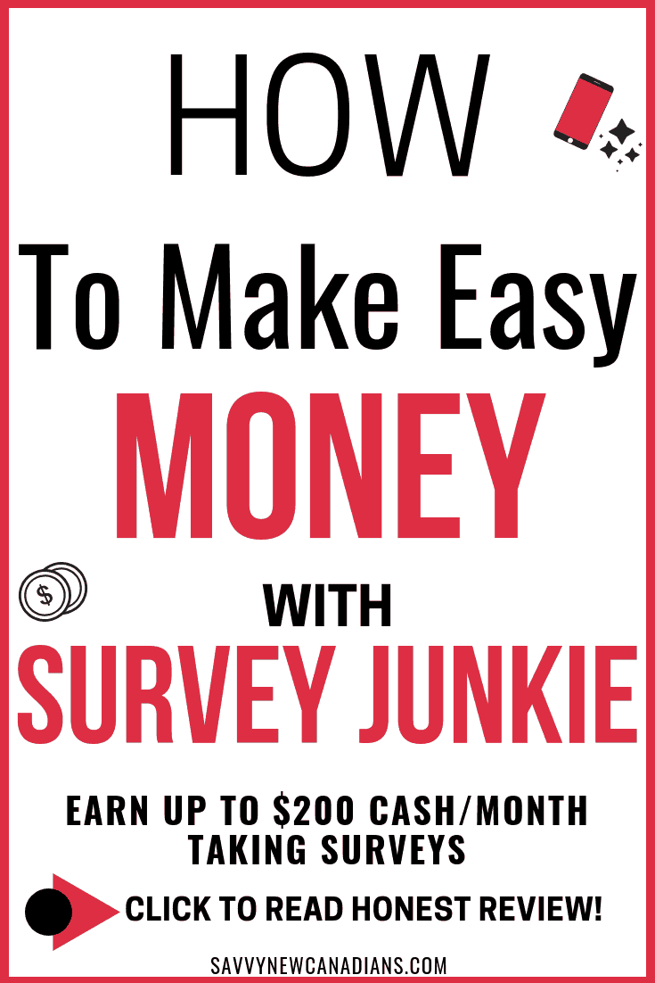 Is this the best paid survey site? Check this review of Survey Junkie to see how you can earn real cash and gift cards online. Survey Junkie is one of the best paid surveys to earn passive income from the comfort of your home. Click to read and PIN for later! #Surveyjunkie #surveys #extracash #workfromhome #makemoney