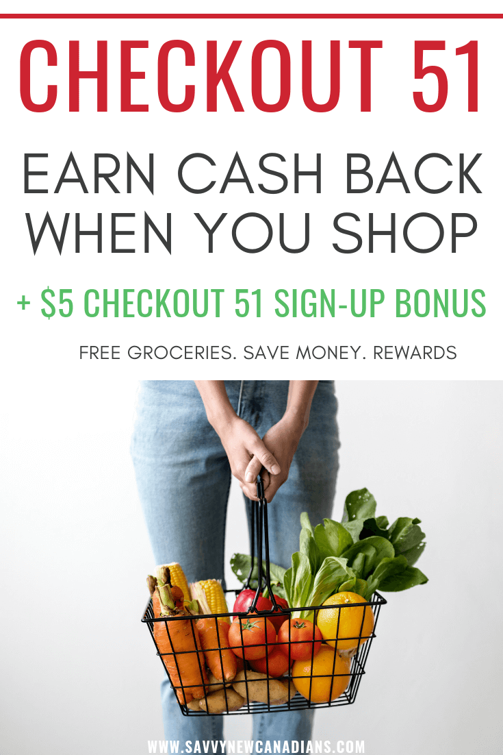 Save money on groceries with the free Checkout 51 app. Earning cash back has never been so easy...check out how to start saving today. There is also a free $5 Checkout 51 cash bonus inside! #savemoney #groceries #couponapps #freeapps #savingmoney #checkout51