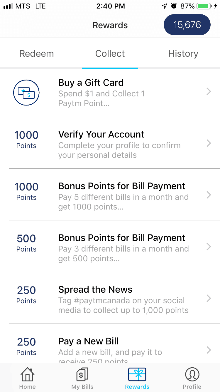 Paytm Canada Offers