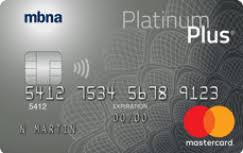 MBNA Rewards Platinum Plus Mastercard..