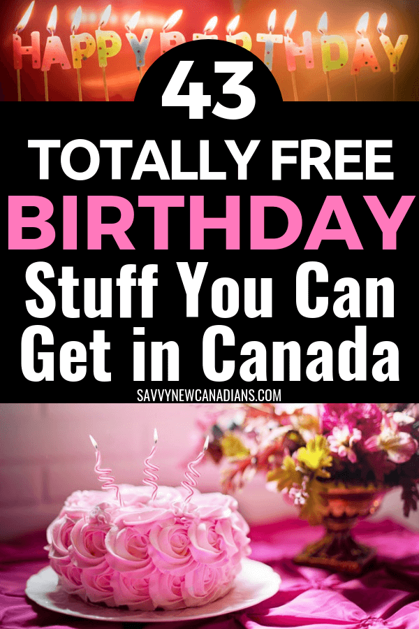The best birthday freebies you can scoop up on your birthday. Get free treats, food, drink and discounts! More than $200 worth of free stuff! #birthday #freestuff #birthdaygifts #birthdaylistideas #savemoney