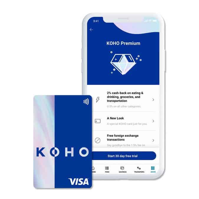 KOHO Premium App and Card