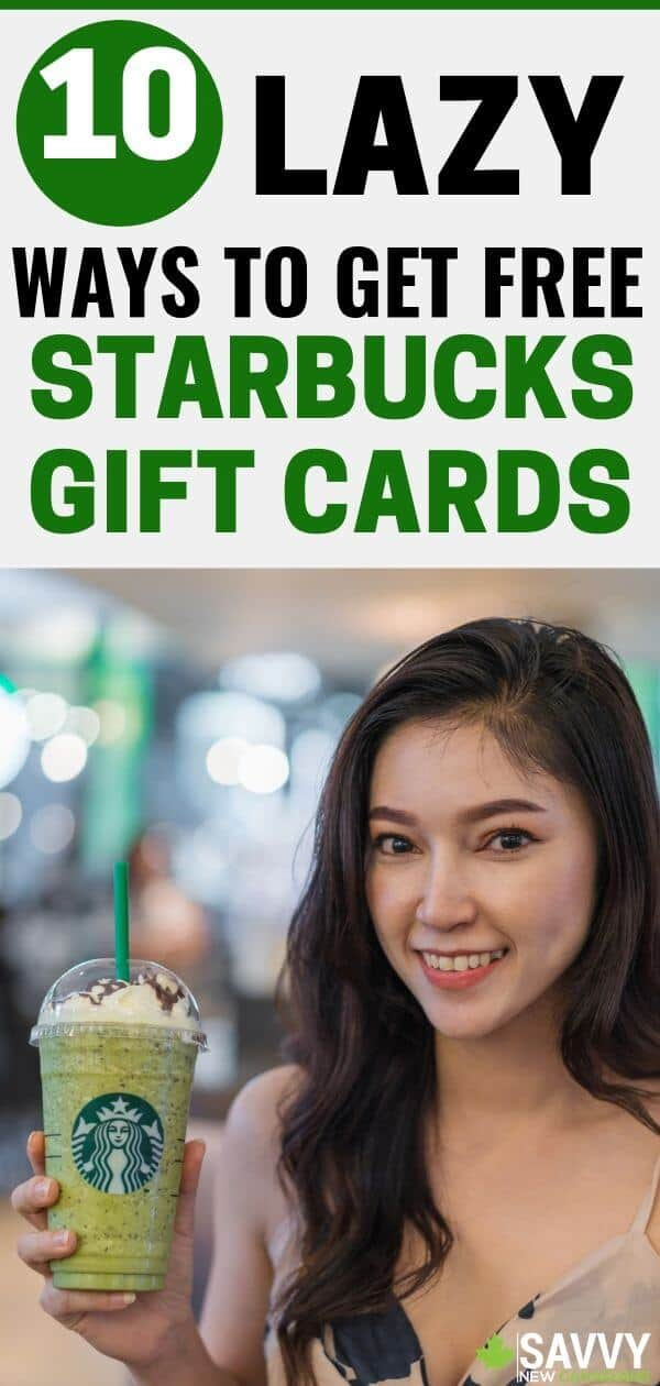 Here are 10 ways to get free Starbucks coffee. Why pay for Starbucks drinks when you can get them for free using FREE Starbucks gift cards? #Starbucks #savemoney #freebies #freestarbucks #freestuff
