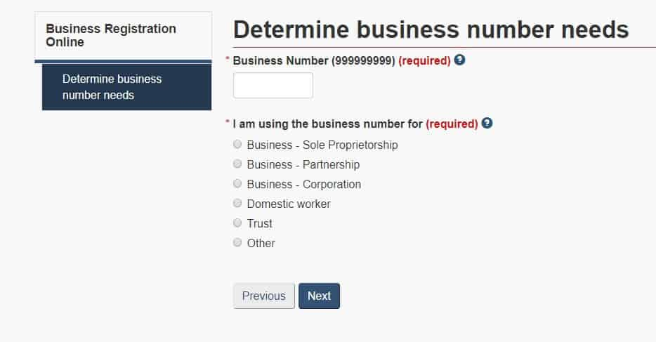 Business number registration 3