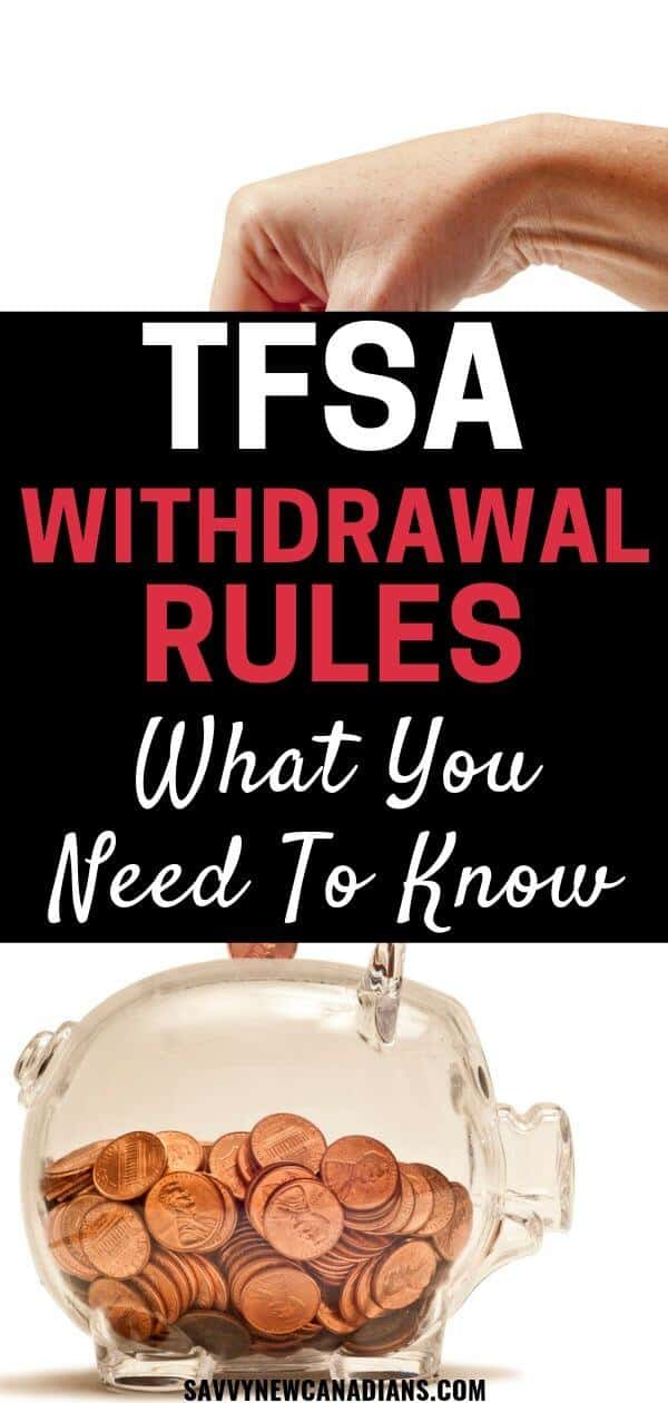 Everything you need to know about the Tax-Free Savings Account TFSA in Canada including your contribution room and rules regarding withdrawing funds from your TFSA account. #TFSA #investing #retirementplanning #savemoney #Canada