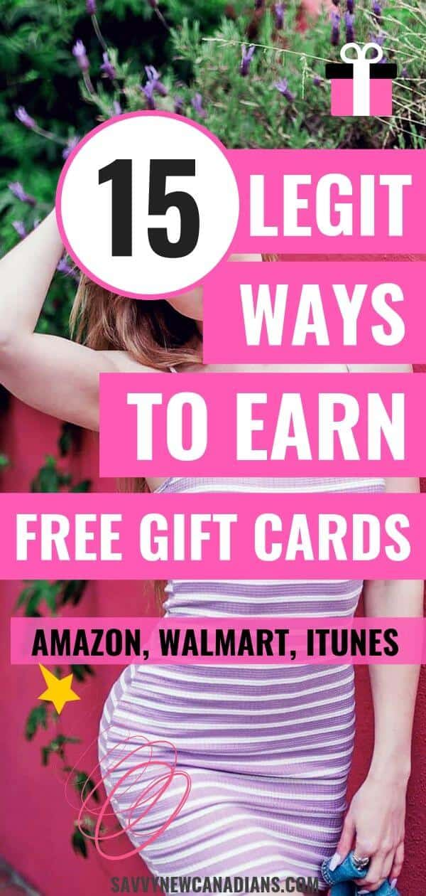 Here are 15 easy ways to get free gift cards! Make free money online using these simple hacks. #freegiftcards #makemoneyonline #makemoney #giftcards #freemoney #freestuff
