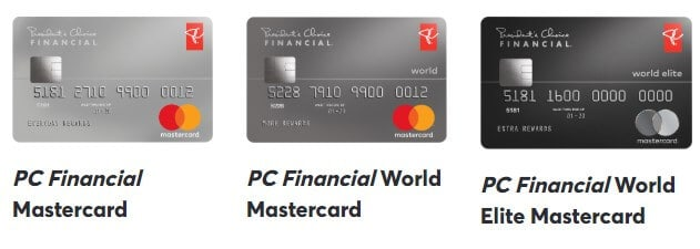 PC Financial Mastercards