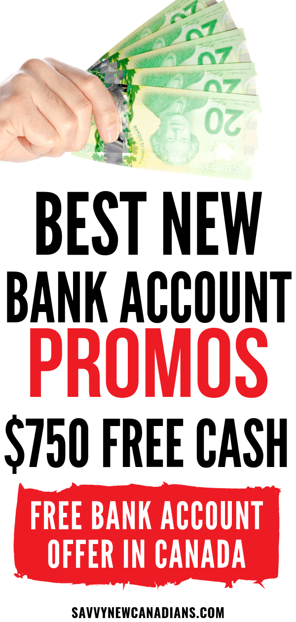 New Bank Account Promotions in Canada (Chequing, Savings, Credit Cards and Investments)