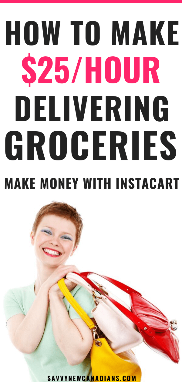 Here's how to make money on the side working as an Instacart Shopper. See how you can deliver groceries during your free time for extra cash. #workfromhome #makemoneyfromhome #sidehustle #sidegig #earnextracash