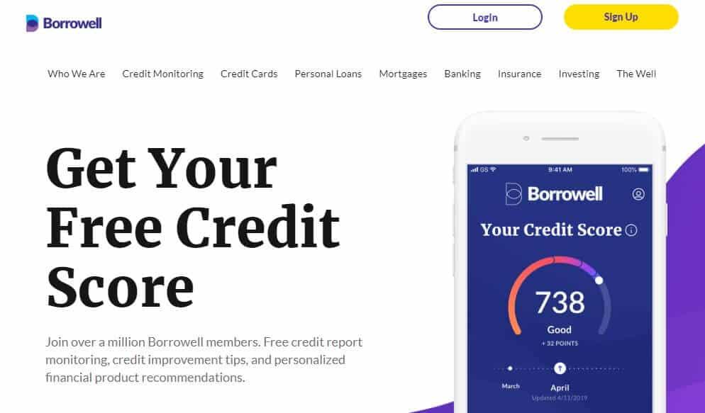 Borrowell credit score