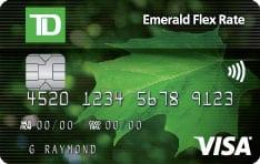 TD emerald flex rate visa